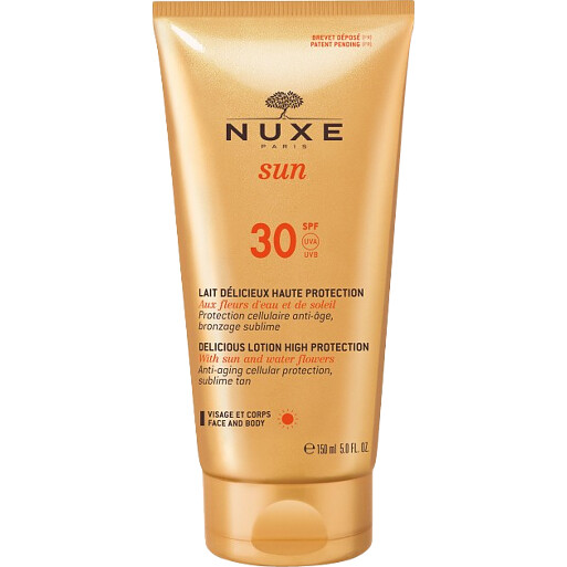 NUXE sun SPF 30 DELICIOUS LOTION HIGH PROTECTION With sun and water flowers 150ml
