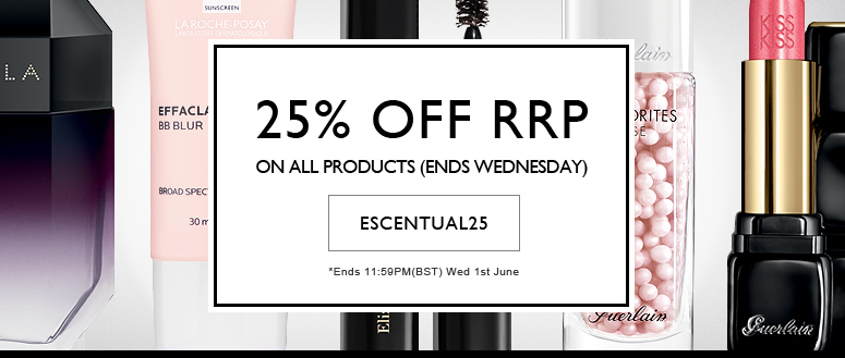 ESCENTUAL25 - at least 25% off RRP on Everything!