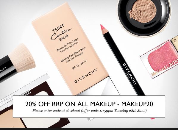 MAKEUP20 - Save 20% off RRP on ALL makeup