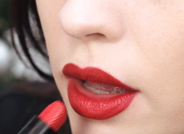 Laura Geller Baked Iconic Lipstick in Big Apple Red